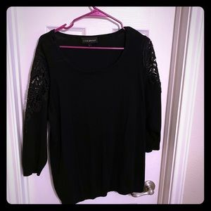 3/4 sleeve lace sleeve sweater